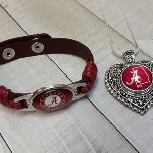 Alabama Crimson Tide Necklace and Bracelet set